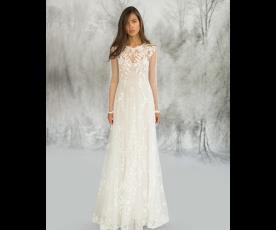 שמלת כלה עדינה מאופקת ועיטורים