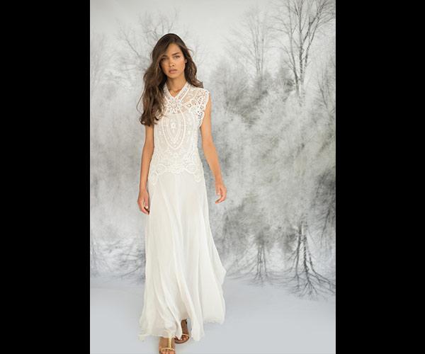 שמלת כלה קלאסית שיפון נשפכת