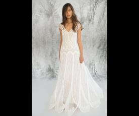 שמלת כלה סגנון וינטג' מקסי ותחרה