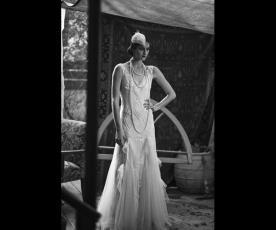 שמלת כלה אלגנטית עם טול וחרוזים
