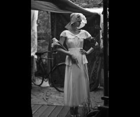 שמלת כלה וינטג' צנועה סאטן