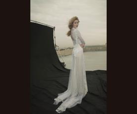שמלת כלה בוהו גב שקוף ורשת