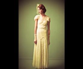 שמלת כלה וינטג' צנועה אלגנטית