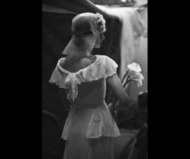 שמלת כלה פפלום תחרה וינטג'
