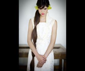 שמלת כלה מיוחדת כתפיות עבות