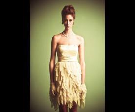שמלת כלה סטרפלס מיני קשקשים