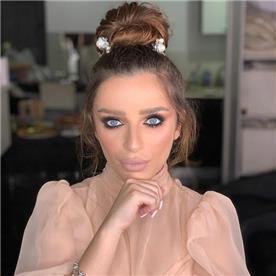 איפור כלות: קוקו, שיער ברונטי, איפור במראה טבעי - ריקי פרץ - Makeup