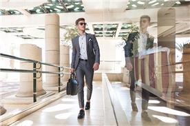 חליפת חתן: חליפת שלושה חלקים, חליפה בגזרה ישרה, חליפה בדוגמה חלקה, חליפה בצבע אפור - חליפות חתן - פיגל