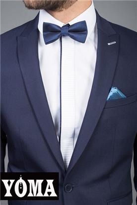 חליפה בורדו עם פפיון