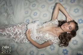 שמלת כלה הוט קוטור פרחונית