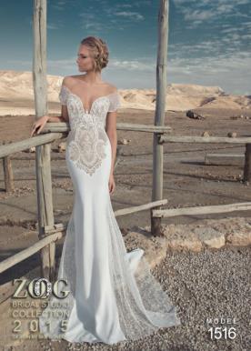 שמלת כלה עם תחרה ממוקמת