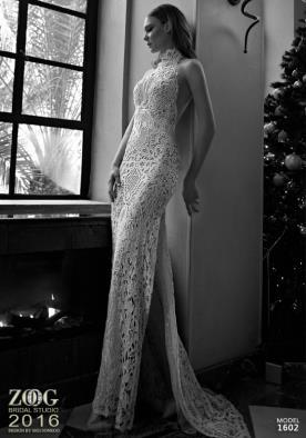 שמלת כלה צווארון קולר גבוה