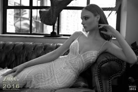 שמלת כלה רקומה חרוזים ופרחים