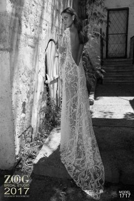 שמלת כלה תחרה כפרית מחורזת