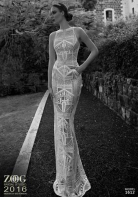 שמלת כלה מקסי מחורזת עם כיסים