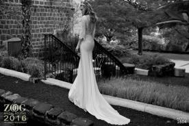 שמלת כלה רומנטית שרוולים נשפכים
