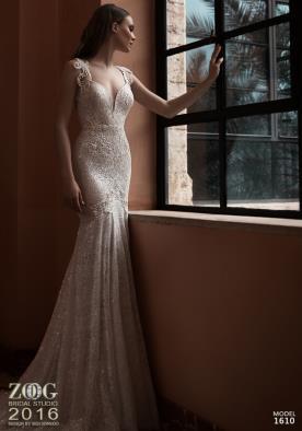 שמלת כלה נוצצת בת ים קרם