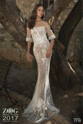 שמלת כלה שרוולי סטרפלס