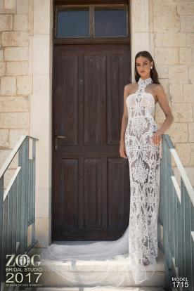 שמלת כלה קולר תחרה