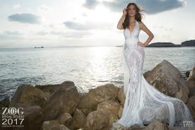שמלת כלה בת הים חגורה במותן