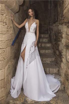 שמלת ערב עם כתפיות דקות