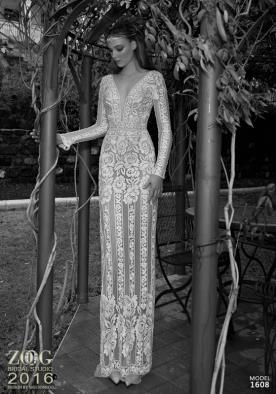 שמלת כלה דוגמת פרחים ופסים