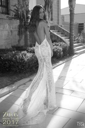 שמלת כלה מקסי תחרה שקופה