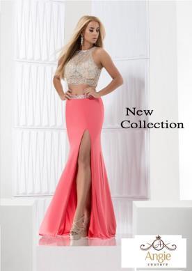 שמלת ערב חצאית שסע ורודה