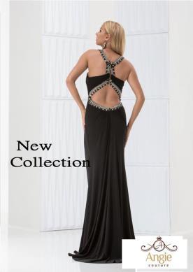 שמלת ערב שחורה גב חשוף