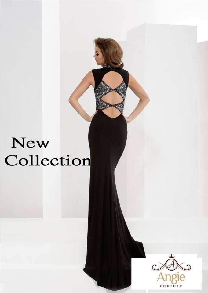 שמלת ערב משולשים בגב
