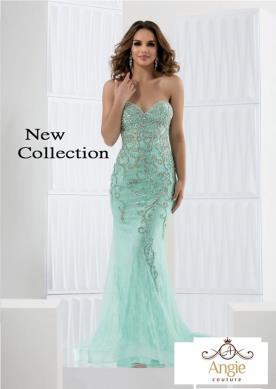 שמלת ערב בצבע מנטה