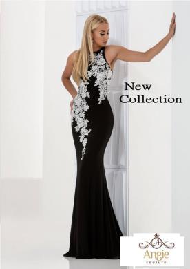 שמלת ערב שחור ולבן