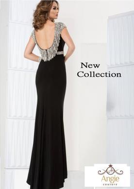 שמלת ערב מחשוף גב עגול