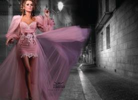 שמלה איסימטרית רומנטית לערב
