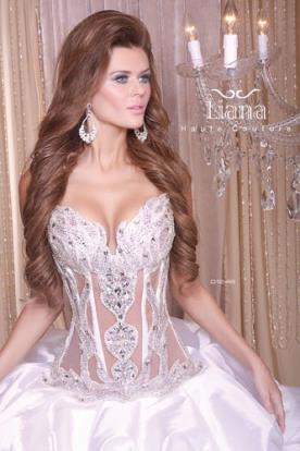 שמלת כלה עם מחוך סטרפלס משובץ