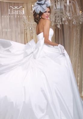 שמלת כלה מפוארת מסאטן