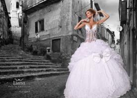 שמלת כלה נסיכתית עם פפיון גדול
