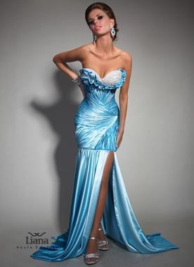 שמלת ערב בת ים עם שסע