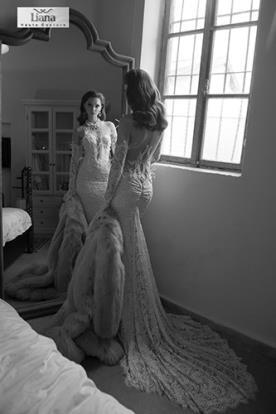שמלת כלה עדינה עשויה תחרה