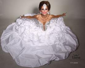 שמלת כלה מרשימה משובצת