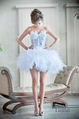 שמלת בלרינה קצרה לכלה