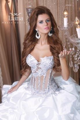 שמלת כלה עם מחוך סמי שקוף