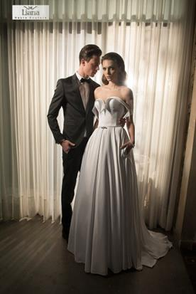 שמלת כלה מפוסלת מודרנית
