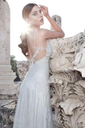 שמלת כלה כתפיות כפולות