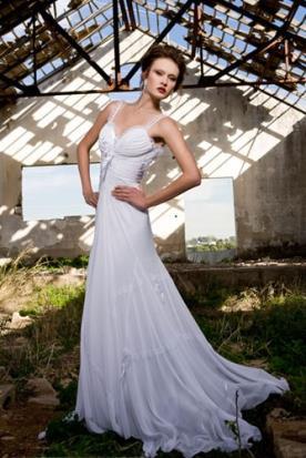 שמלת כלה שיפון ומשי