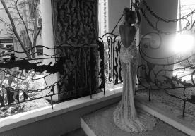 שמלת כלה עדינה עם אלמנט רומנטי
