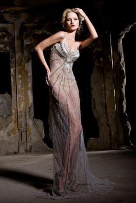 שמלת כלה נועזת כסופה