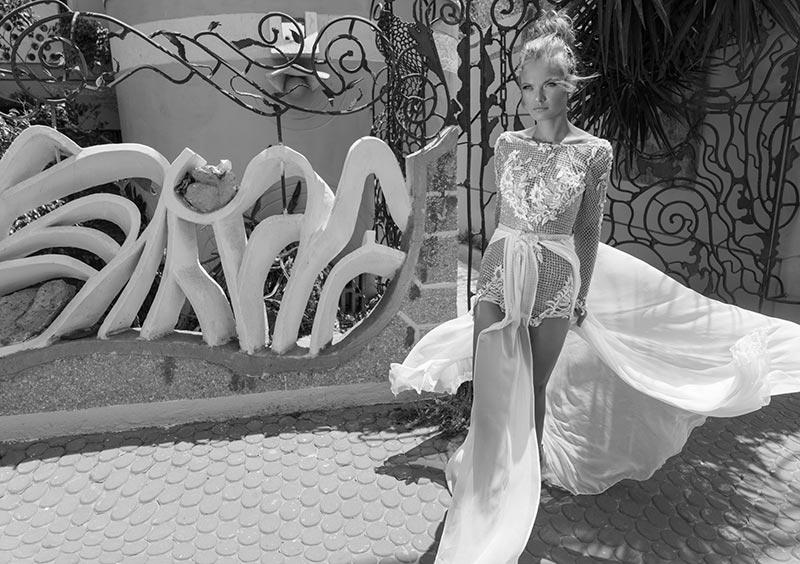 שמלת כלה קייצית בעיצוב מודרני