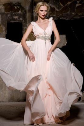שמלת כלה יוונית ורודה