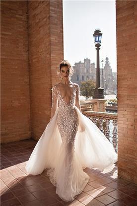 שמלת כלה לבן וכסף